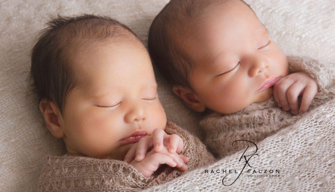 Twin babies newborn session