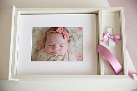 The Heirloom Box of matted prints newborn photography sydney