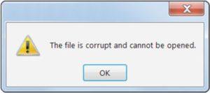 Corrupt file