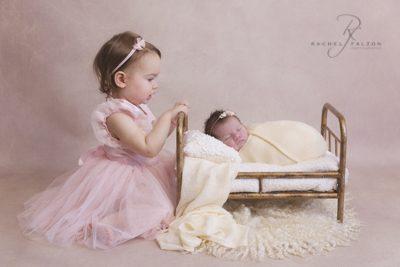 Cute sisters baby newborn penrith