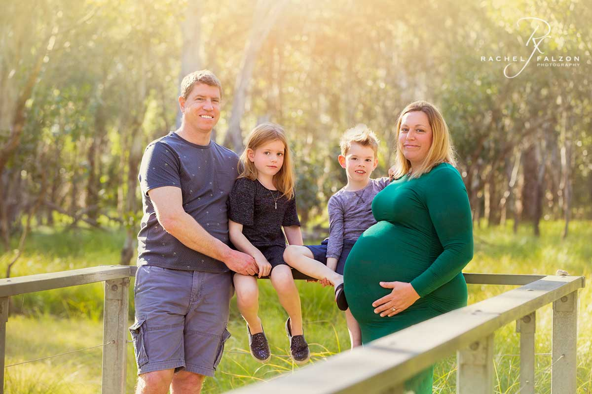 Outdoor family portrait maternity