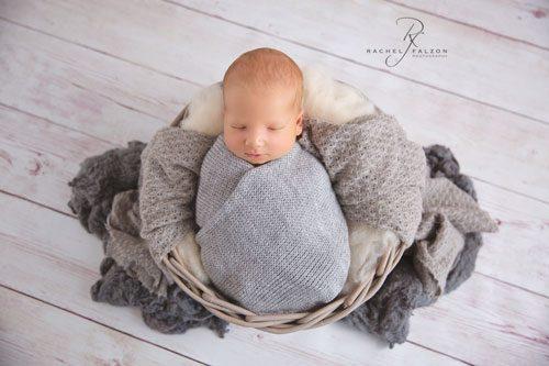 Baby in grey