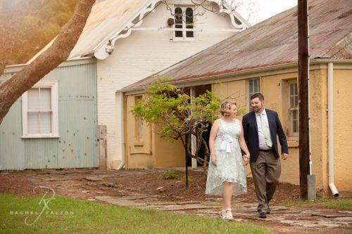 Happy couple walking